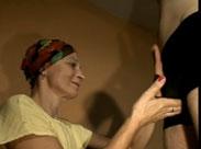 Sexy Oma beim Privat Casting