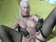 Oma steht auf geilen Fetisch Sex