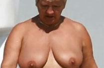 Oma am Nudisten Strand heimlich fotografiert